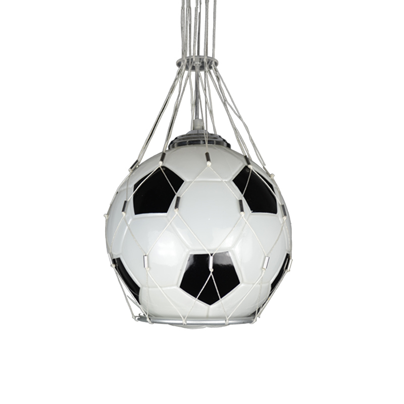 Image 5 - American Vintage Sport Theme Bar Basketball Soccer Hanging Light Childrens Room personality Football Pendant Lights Bedroom Boy-in Pendant Lights from Lights & Lighting