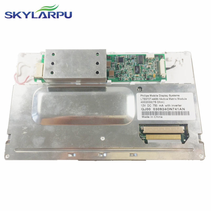 skylarpu 7.2'' inch LCD screen for LTE072T-4455-2 LTE072T-4455 LTE072T Car GPS navigation LCD display screen panel Replacement