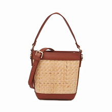 cow Leather handbag 2019 new fashion wild rattan package woven bag Messenger portable personality trendy packet