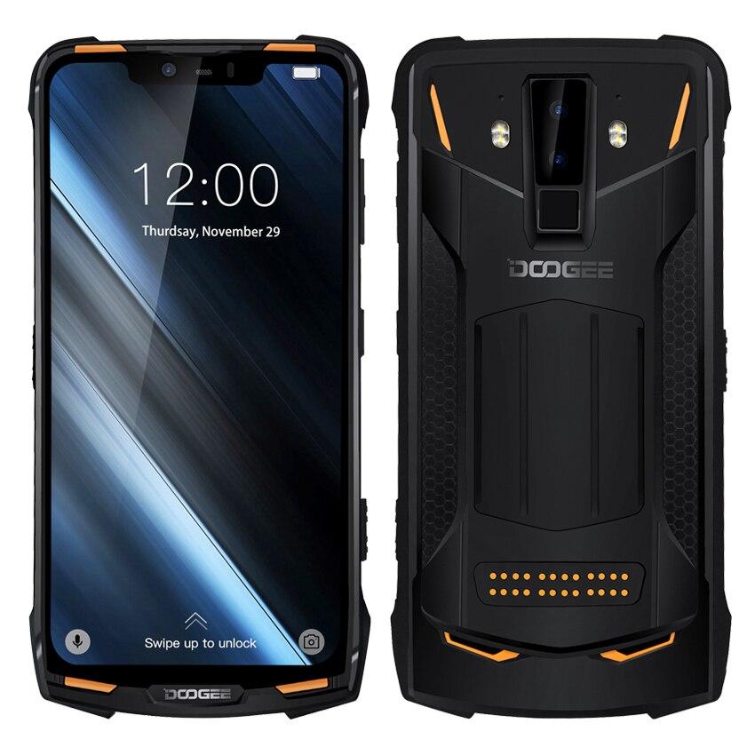DOOGEE S90 IP68 téléphone portable étanche antichoc Android 8.1 5050 mAh 6.18 ''huit core téléphone portable 6 GB + 128 GB 16MP 4G Smartphone
