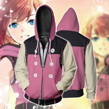 Kingdom Hearts Kairi Cosplay Costume Game Hoodie Sweatshirts Jackets Coats Men Women