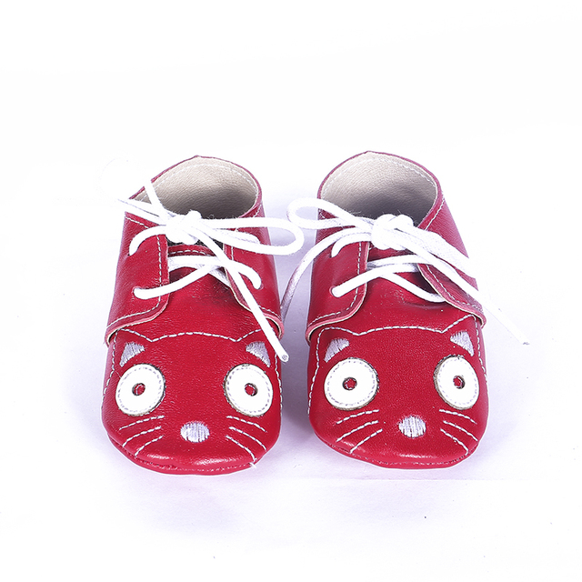 Genuine leather Lace-up Baby Moccasins Cartoon Baby Shoes Chaussure newborn Baby boys girls shoes Suede First Walkers
