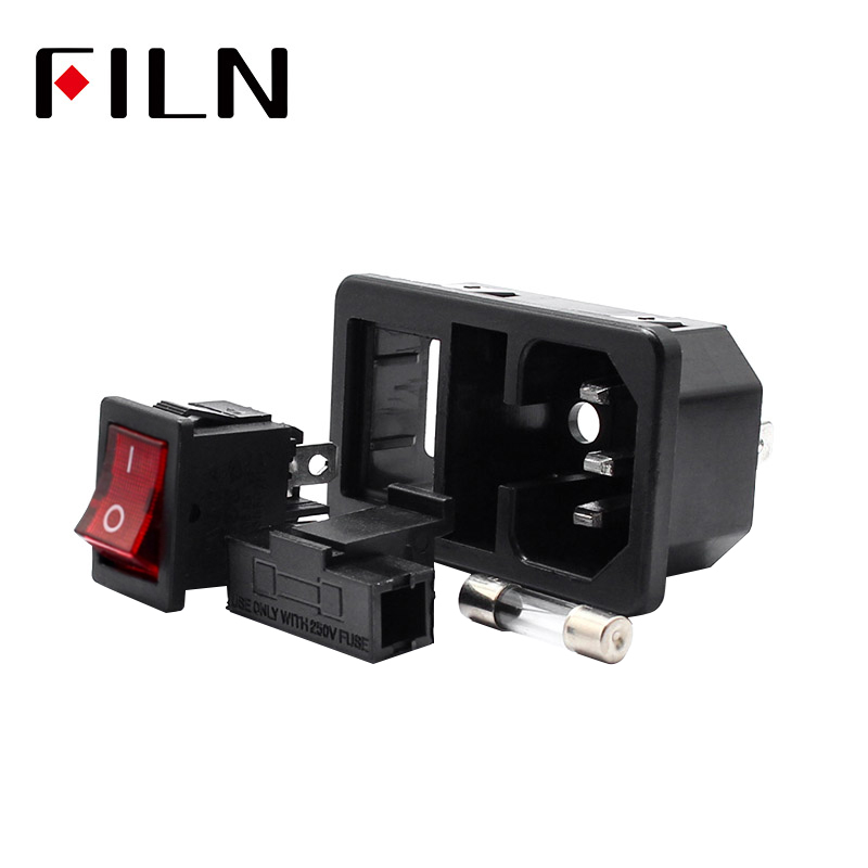 Electrical Sockets & Accessories Electrical Sockets Power Socket With Red Lamp Rocker Switch 10a Fuse Holder Socket Male Connector 10a 250vac 3 Pin Iec320 C14 Inlet Connector Plug