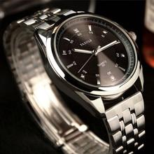 Yazole top luxury diamond reloj de cuarzo de acero completo moda luminoso reloj del negocio reloj de los hombres relojes a prueba de agua horas reloj hombre