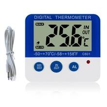Мини цифровой ЖК-термометр для холодильника датчик температуры Морозильник Термометр сигнализация MYDING