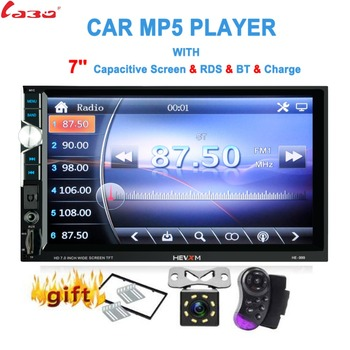 "LaBo 2Din Car Radio 7""HD Touch mirrorlink Android Player subwoofer MP5 Player Autoradio Bluetooth Rear View Camera tape recorder"