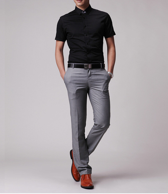 Grey Colour Formal Pant Free Shipping New Men 39;s Slim Fit Casual Formal Straight