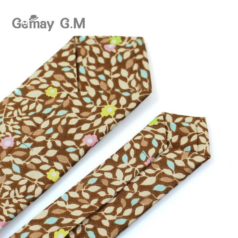 Marke Baumwolle Floral Krawatten Für Männer Anzug Dünne Mens - Bekleidungszubehör - Foto 5