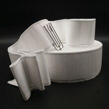 5 Metros de Cortina ganchos acessórios de cortina fita de tecido fita fita fita branca fita cortina de criptografia espessamento