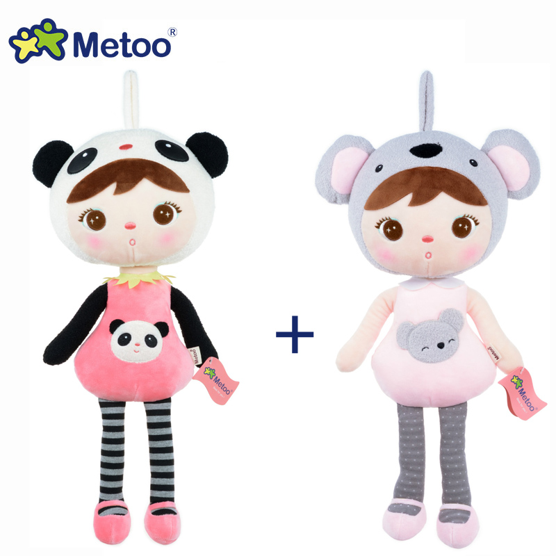 2pcs/lot 45cm Metoo Doll Stuffed Toys Plush Animals Soft Kids Baby Toys for Girls Children Boys Kawaii Cartoon Keppel Panda цена 2017