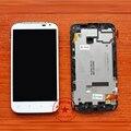Белый высокое качество полный жк-дисплей + сенсорный экран планшета ассамблеи с рамкой для HTC Sensation XL X315e G21 замена