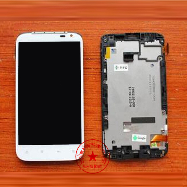 Alta calidad blanca completa LCD + pantalla táctil digitalizador asamblea con marco para HTC Sensation XL X315e G21 reemplazo