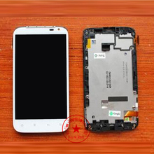 White High Quality Full LCD Display + Touch Screen Digitizer Assembly With Frame For HTC Sensation XL X315e G21 Replacement