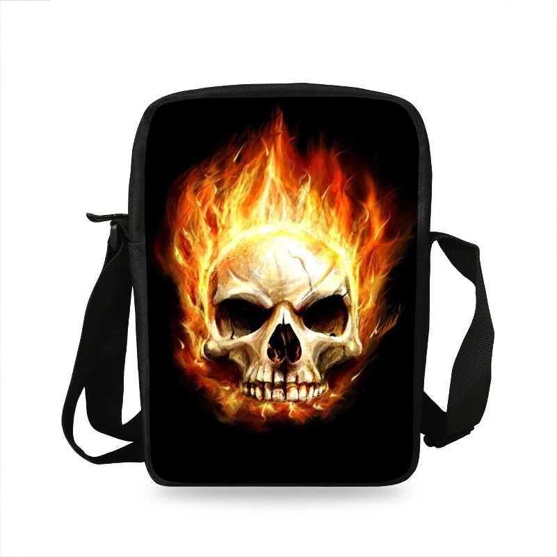 Крутые женские мини сумки-мессенджеры в стиле панк с принтом черепа, сумки через плечо для девочек, повседневные женские сумки для путешествий, маленькая сумка на плечо