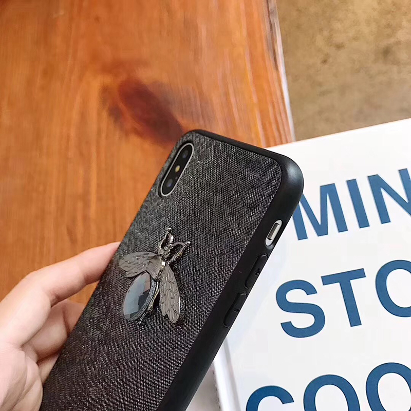 Luxury Fashion brand Diamond Bee Glitter soft case for iphone 6 S 7 8 plus X XR XS Max Cute Hard Cover for iphone 7 8 6S 5 5S SE (3)