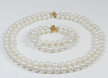 Miss charm Jew.578 a set AA 9-10mm white pink yellow Natural Fresh water pearl necklace can choose