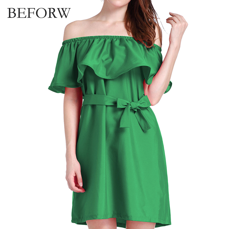BEFORW Women Sexy Midi Dress Summer Fashs