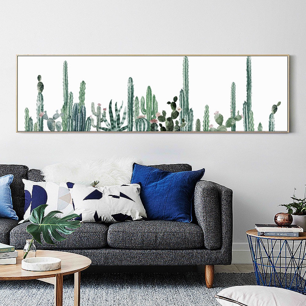 Living Room Decor Mexico style Lush Green Blooming Gactus Art Craft ...