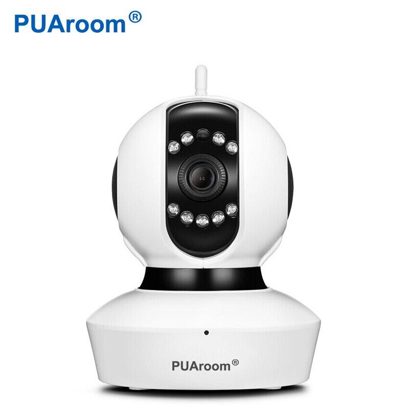 PUAroom 1080P vigilancia CCTV cámara de seguridad IP inalámbrica red WiFi Pan Tilt Zoom PTZ para cámara de seguridad del hogar