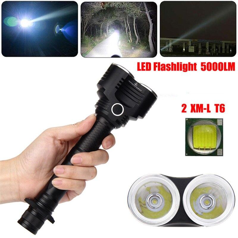 B2 5000 Lumens 5 Modes XM-L T6 LED Adjustable Flashlight Torch Lamp Light Bicycle Light Hiking Camping Hunting Durable