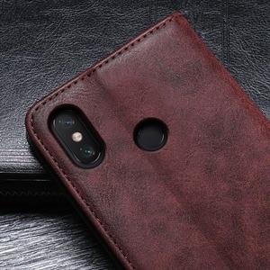 Image 4 - Dla Xiao mi mi Max 3 Case 6.9 cal luksusowe Vintage odwróć PU skóra obudowa do Xiaomi mi Max3 magnetyczny Retro pokrywa z gniazda na kartę