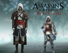Assassin's Creed IV Edward Kenway Black Flag Cosplay Costume Tailor Made Any Size