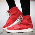 Primavera Outono Homens Botas Ao Ar Livre Botas de Plataforma Sapatos Kanye Rendas Up Ankle Boots Para Homens Kanye West Sapatos carregadores dos homens