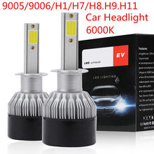 2Pcs 1500W 225000LM DOB LED Headlight Kit Super Bright12/24V H1 H7 H11 9005 9006 6000K White Bulb(China)