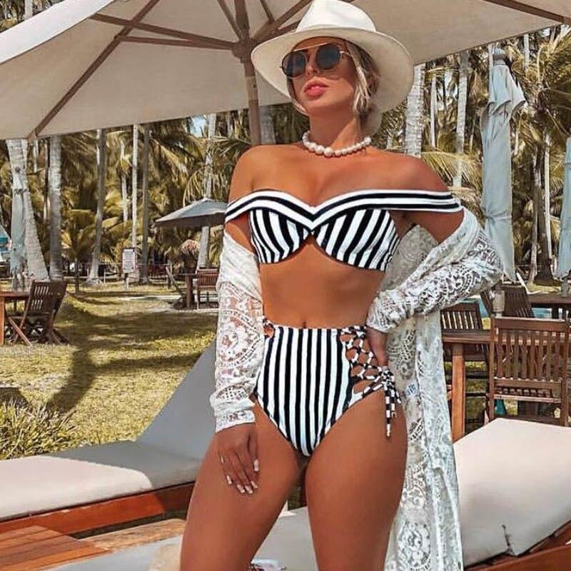 High-Waist-Bikini-Women-Swimwear-Push-Up-Swimsuit-Striped-Two-Pieces-Bikini-Set-Halter-Bathing-Suit (3)