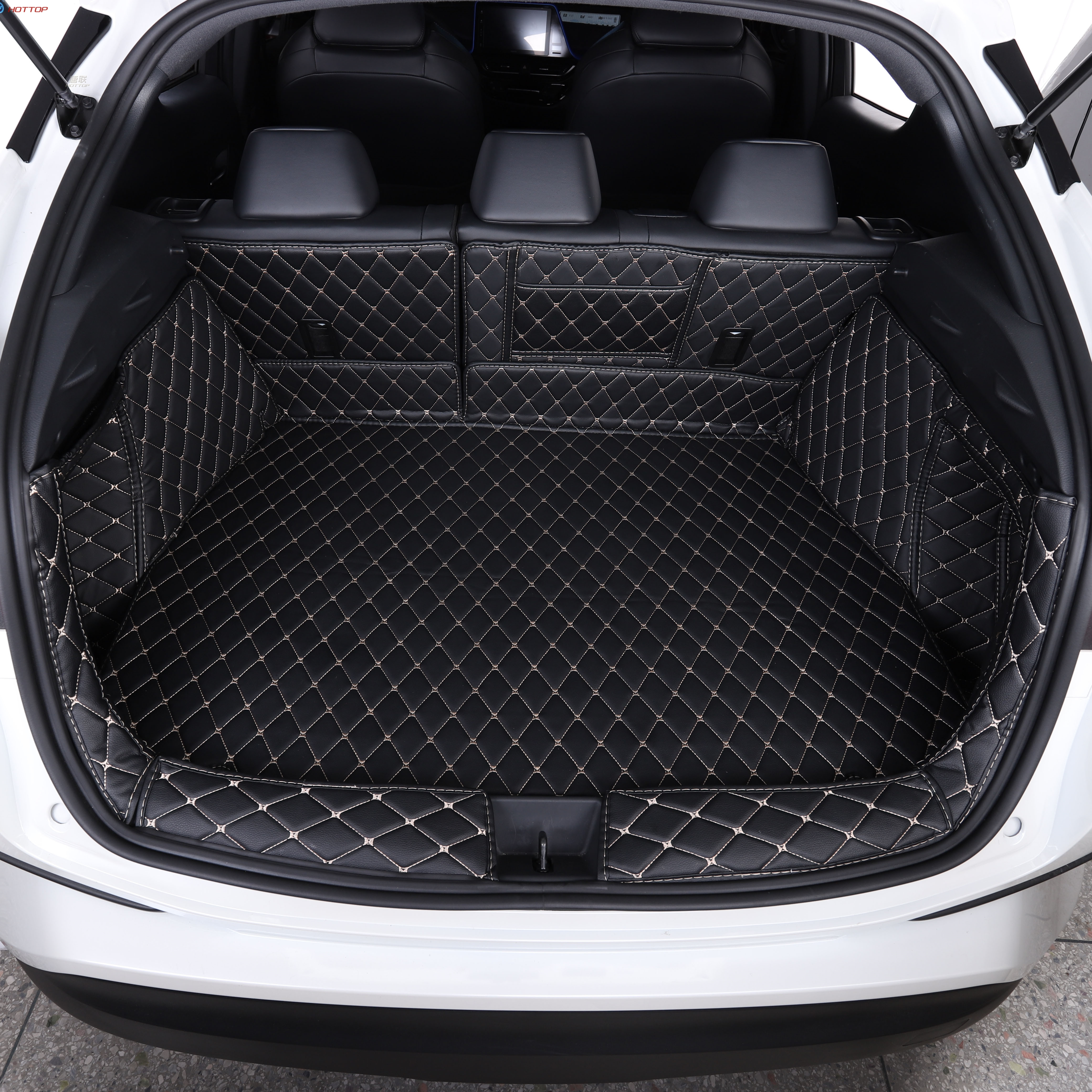 Special car trunk mats FIT for Toyota CHR 2017 durable cargo liner mats boot carpets for C HR 2018
