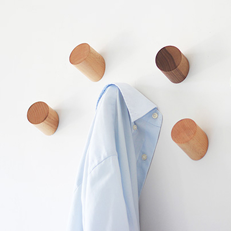 Modern Homes Peg: Solid Oak Wooden Wall Hook Peg Hallway Coat Modern Hanger