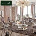 1 + 2 + 3 assento mesa de centro + 3 pcs mesa de canto / lot tecido de luxo sofá para sala de estar CE-SF905