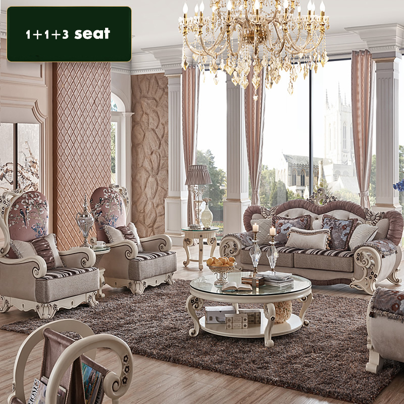 1 2 3 Seat Center Table Pcs Corner Lot Luxury Fabric Couch For Living Room CE SF905