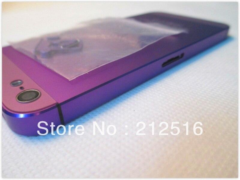 Purple metal housing iphone 5,good quality back iphone5 purple via HK post! - External Phone Accessories store