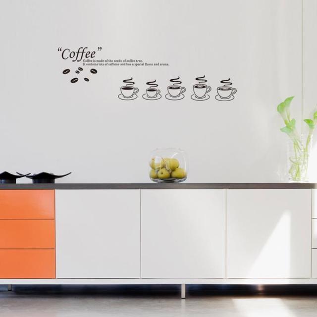 US $14.19 43% di SCONTO|2017 Nuova Vendita di Adesivi Da Muro Per Bambini  Camere Complementi Arredo Casa Rimovibile Cucina Tazza di Tè Armadio  Pitture ...