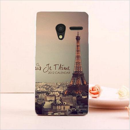 DIY Painted Transparan Hard Cover Kasus Untuk Alcatel One Touch Pixi3 - Aksesori dan suku cadang ponsel - Foto 4