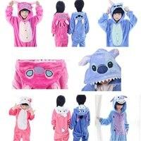 4 12Y Boy Girl Pajamas Children Pajamas Set Hooded Romper Unisex Flannel Kids Christmas Pajamas Cartoon