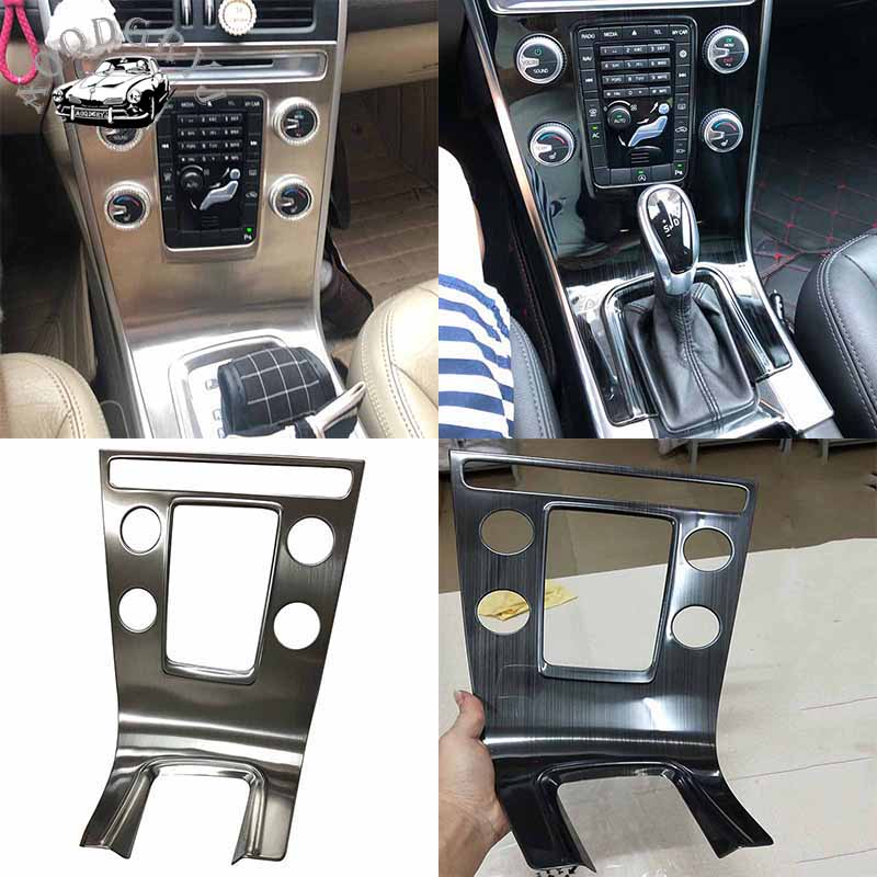 Stainless Steel Central Control Adjustment Panel Frame Cover Decorative Stickers Fit For Volvo XC60 2012-2017 Car Styling
