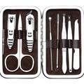 8 en un Conjunto Cortaúñas uñas herramientas de manicura Pedicura cuchillo Cortador de la Pinza de La Cutícula Tijeras Cuidado de las Uñas Kit de Aseo con caso