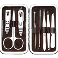 8 in one Nail Clipper Set nails manicure tools Pedicure knife Scissors Nail Care Nipper Cutter Cuticle Grooming Kit with Case