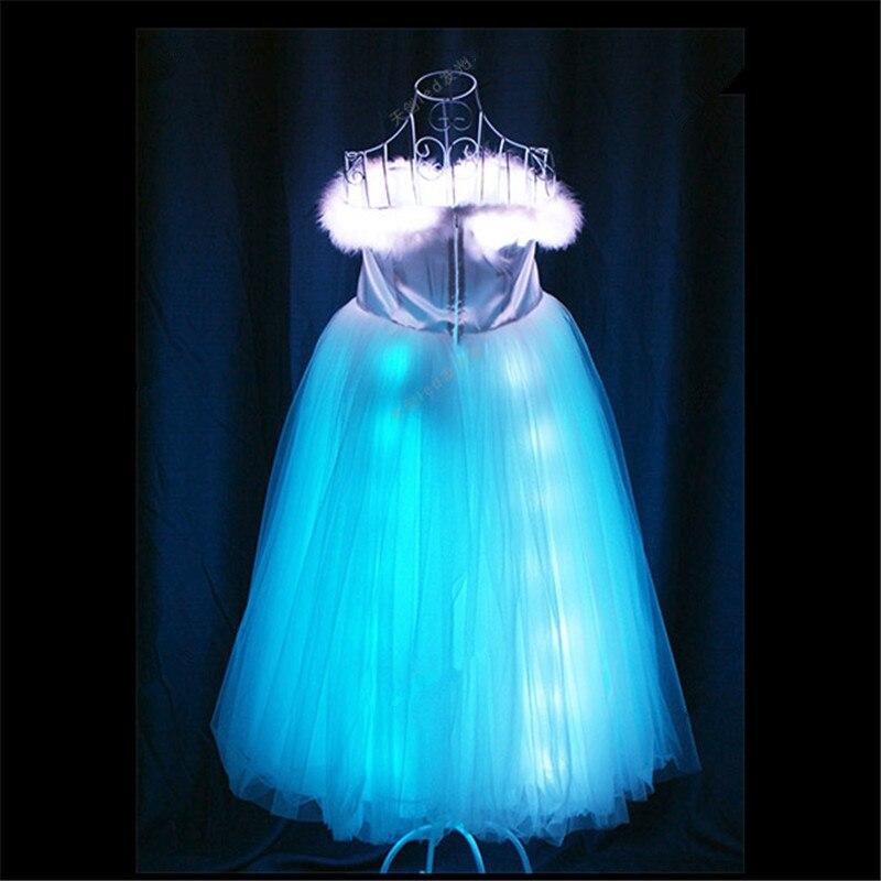 TC-170 Programmable Ballroom dance dresses wanita led kostum cahaya - Hari libur dan pesta - Foto 1