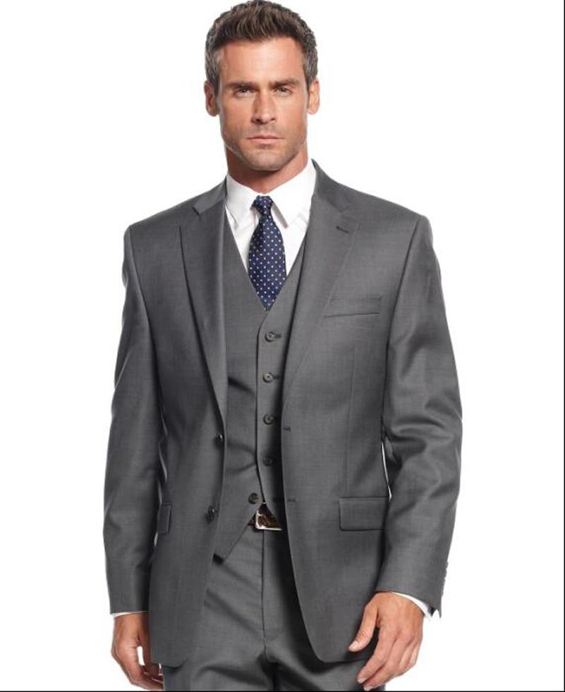 Dark Grey Three Piece Suit Dress Yy