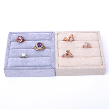 Korea Linen Velvet Ring Display Tray Ring Display Plate Ring Showcase Small Tray Display Tray Mini L