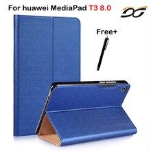 Caso de la manera Para Huawei MediaPad T3 8.0 KOB-L09 KOB-W09 Tablet PC Funda protectora para Huawei Honor Juego Pad 2 8.0 pulgadas