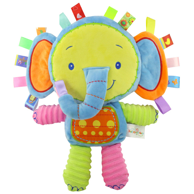 Baby Rattles Toy Elephant Cattle Animals Toy Newborn Hand Bell Development TO Lr