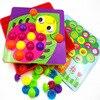 2017 3D Puzzles Toys For Children Composite Picture Puzzle Creative Mosaic Mushroom Nail Kit Button Art