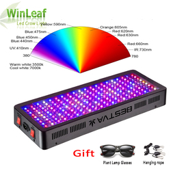 Светодиодный Grow светильник полный спектр 300W 600W 800W 1000W 1200W 1500W 1800W 2000 Вт двойной чип красный/синий/UV/IR для комнатных растений Вег цвету