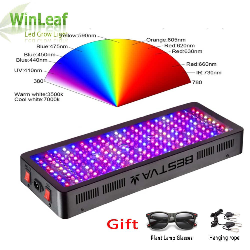 Светодиодный свет для выращивания полного спектра 300 W 600 W 800 W 1000 W 1200 W 1500 W 1800 W 2000 Вт двойной чип красный/синий/UV/IR для комнатных растений растения, овощи цветение
