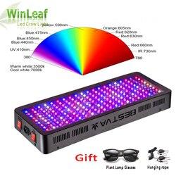 Luz LED de cultivo espectro completo 300W 600W 800W 1000W 1200W 1500W 1800W 2000W doble Chip rojo/azul/UV/IR para plantas de interior floración vegetal