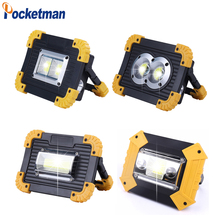 100W Led Portable Spotlight 30000lm Super Bright Work Light Rechargeable for Outdoor Camping Lampe Flashlight by 18650